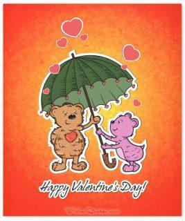Valentines day card cute animals