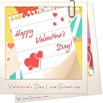Valentines day love greetings image