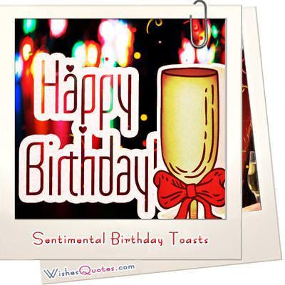 Sentimental birthday toastss featured