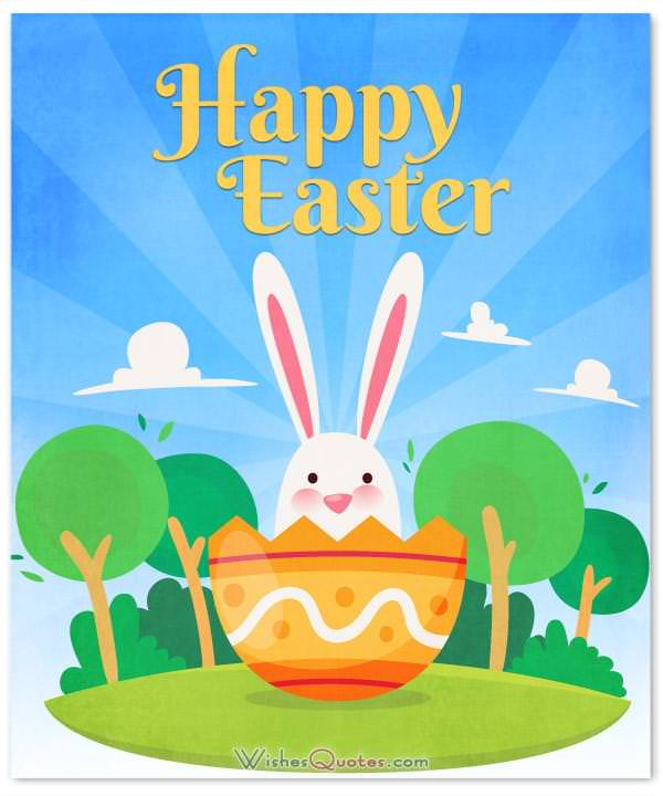 Happy Easter Card With Message