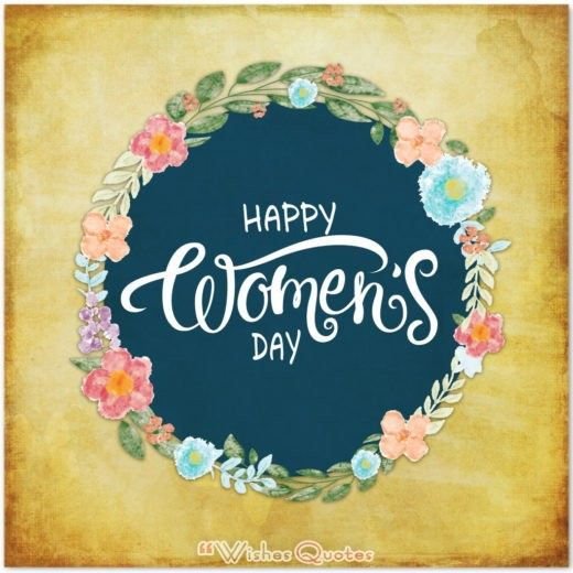 Happy Women's Day Wishes Card