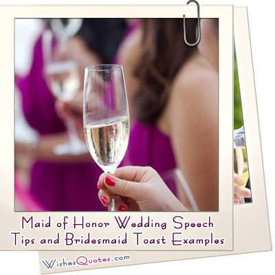 Maid of honor wedding speech