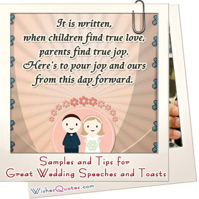 Samples tips wedding speeches