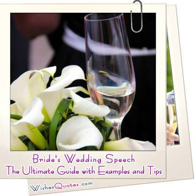 Brides wedding speech