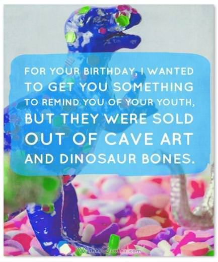 Funny Birthday Wishes, Cards and Messages: Funny Birthday Card With Dinosaur