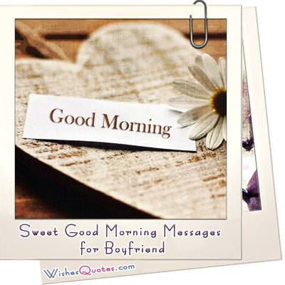 Good Morning Messages For Boyfriend Image