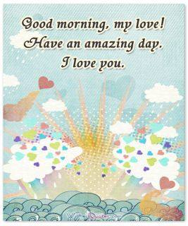 Have an amazing day good morning card