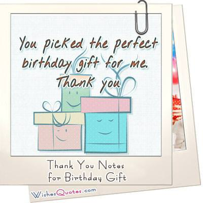 Thank You Notes For Birthday Gift WishesQuotes