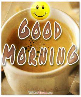 Good morning smily face card