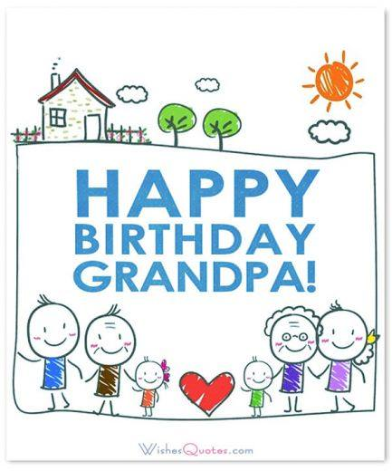 Happy birthday grandpa drawing
