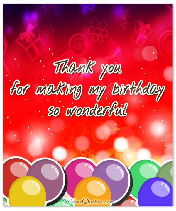 Thank you messages for coming to my birthday party thank you message for birthday party m4hsunfo