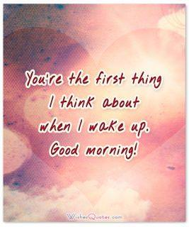 First thing good morning
