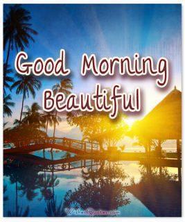 Good morning beautiful card