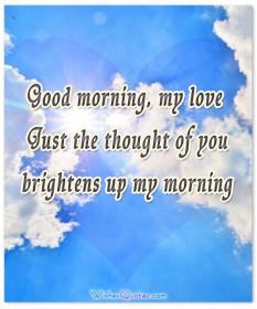 Good morning love card