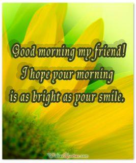 Morning as bright smile