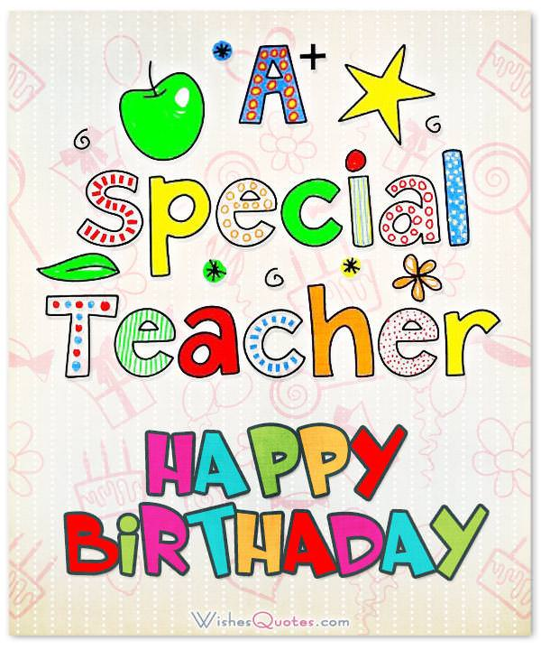 happy birthday letter to a teacher birthday wishes for 16142
