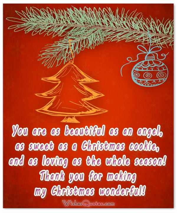 Card with Christmas Love Message