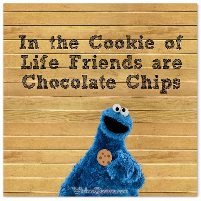 In the cookie of life friends are chocolate chips.