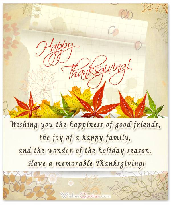 Thanksgiving Wishes - Thanksgiving Card