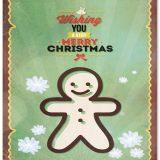 Wishing Merry Christmas Cute Card