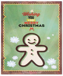 Wishing merry chistmas card