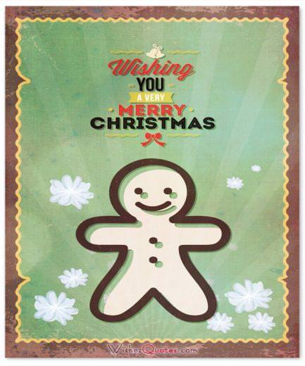 Wishing Merry Christmas Cute Card