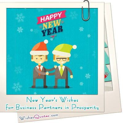 New Year's Wishes For Business Partners In Prosperity – By ...