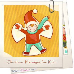 Cute, funny or tender Christmas messages for children