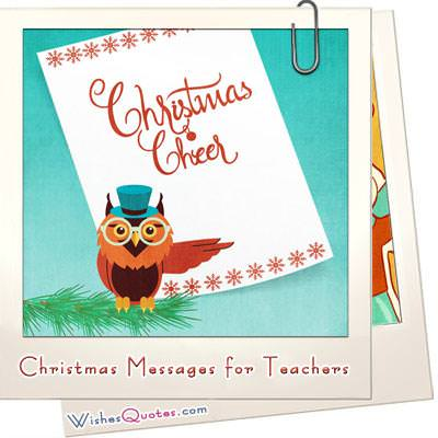 Christmas messages for teachers featured image
