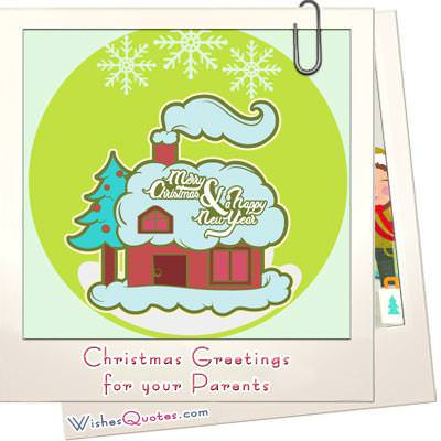 Christmas Greetings for your Parents