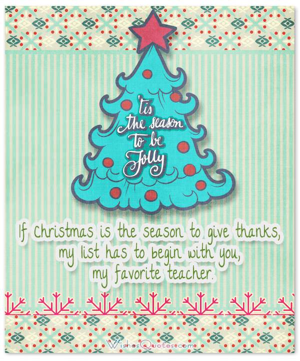 christmas messages for teachers by wishesquotes