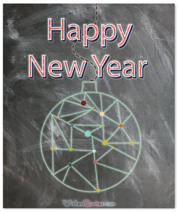 happy new year teacher card