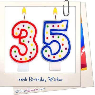 35th Birthday Wishes WishesQuotes