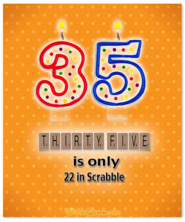 35th Birthday Wishes Card