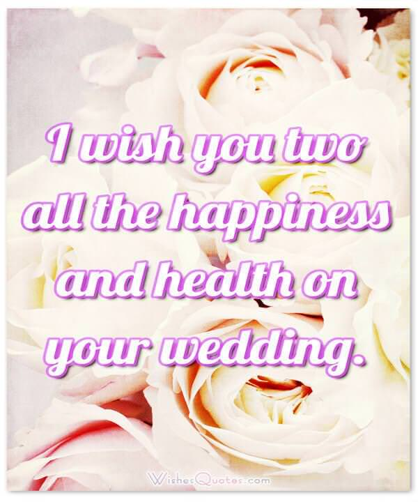 ... Card with Adorable Wedding Wishes ...