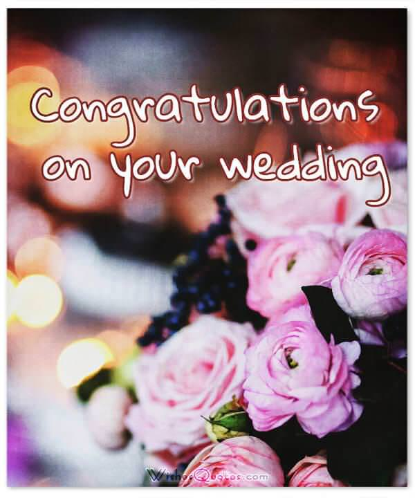 Romantic wedding wishes and heartfelt cards for a newly married couple card with lovely wedding wishes m4hsunfo