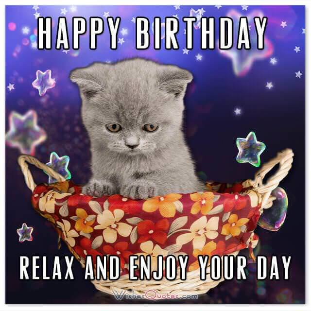 Birthday card: Happy Birthday! Relax and enjoy your day!