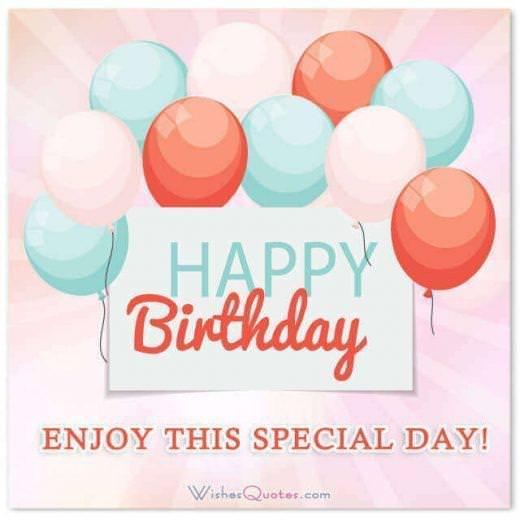 Happy Birthday Card: Happy Birthday! Enjoy this special day!