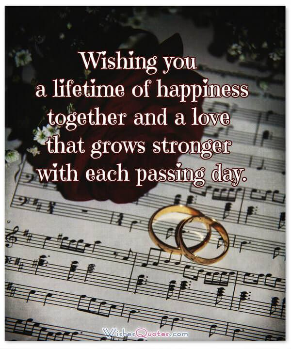 Card with Delightful Wedding Wishes