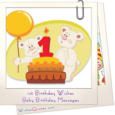 1st Birthday Wishes and Cute Baby Birthday Messages – Baby Birthday Greeting