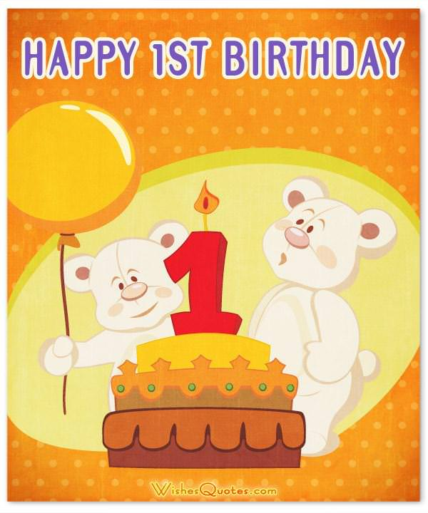 1st Birthday Wishes and Cute Baby Birthday Messages – Birthday Card with Picture