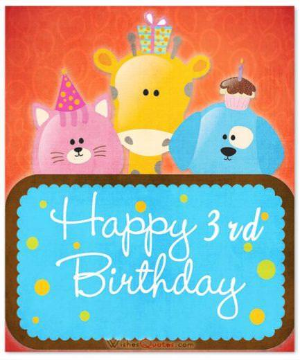 3rd Birthday Wishes card