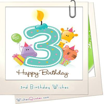 3rd Birthday Wishes WishesQuotes
