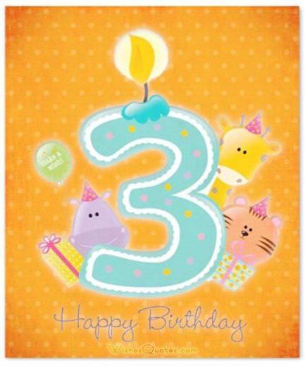 Happy 3rd Birthday card