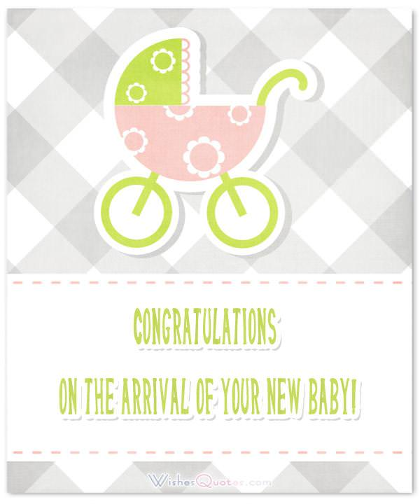 Congratulations on the arrival of your new baby!