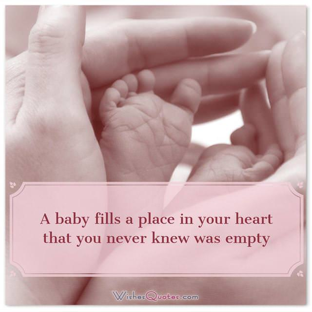 Newborn baby congratulation messages with adorable images newborn wishes a baby fills a place in your heart that you never knew was m4hsunfo