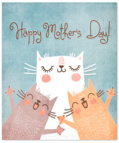 Happy mothers day cats