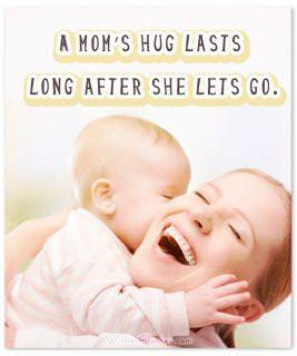 Moms hug