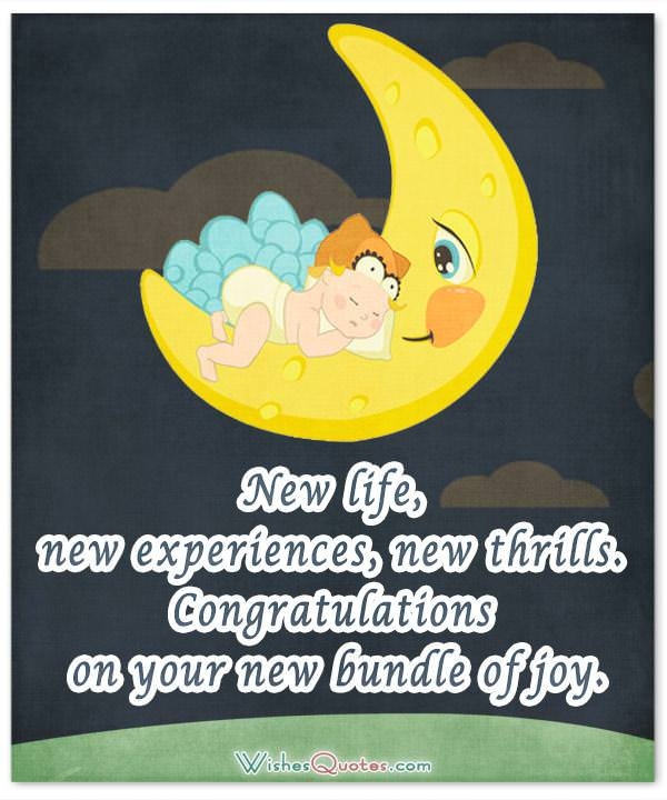 New life, new experiences, new thrills. Congratulations on your new bundle of joy. Newborn Baby Card