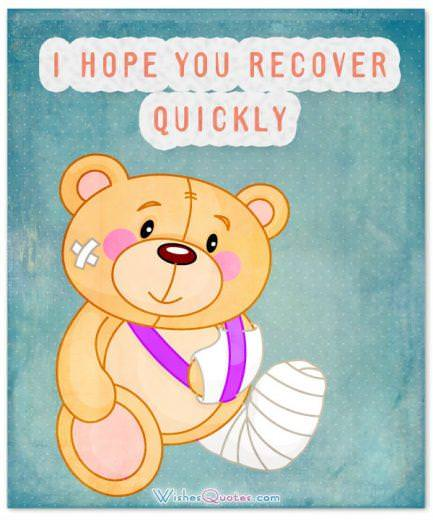 I hope you recover quickly